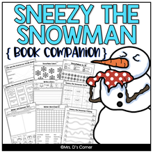 Load image into Gallery viewer, Sneezy the Snowman Book Companion, Activities, and Lesson Plans