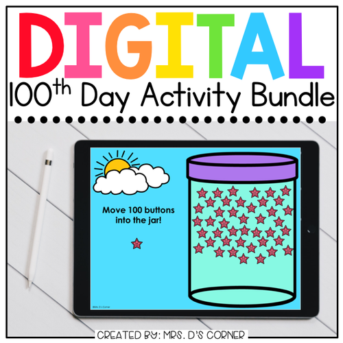 100th Day of School Digital Activity Bundle | Distance Learning