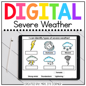 Severe Weather Digital Basics for Special Ed | Distance Learning