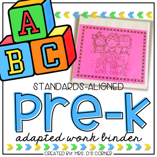 PreKindergarten Adapted Work Binder® | PreK Adapted Work Binder®