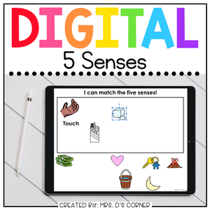 Five Senses Digital Basics for Special Ed | Distance Learning