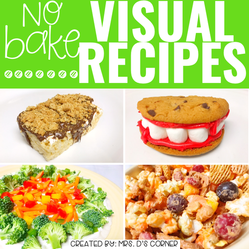 October Visual Recipes with REAL Pictures for Cooking in the Classroom