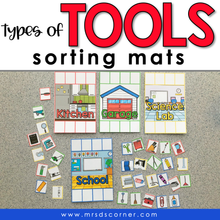 Load image into Gallery viewer, Types of Tools Sorting Mats [4 mats included] | Types of Tools Sorting Activity