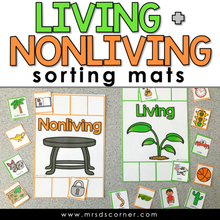 Load image into Gallery viewer, Living and Nonliving Sorting Mats [2 mats included] | Living Nonliving Activity
