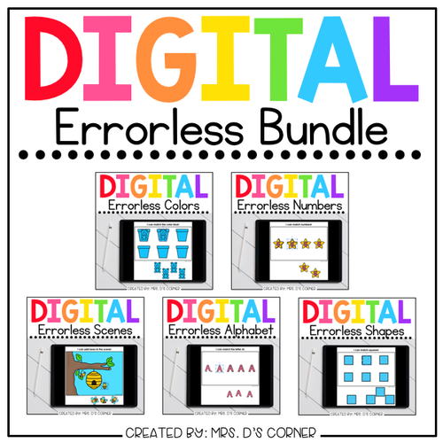 Digital Errorless Learning Activity Bundle [8 total!] | Distance Learning