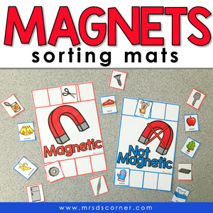 Magnetic and Not Magnetic Sorting Mats [2 mats included] | Magnets Sorting Mats