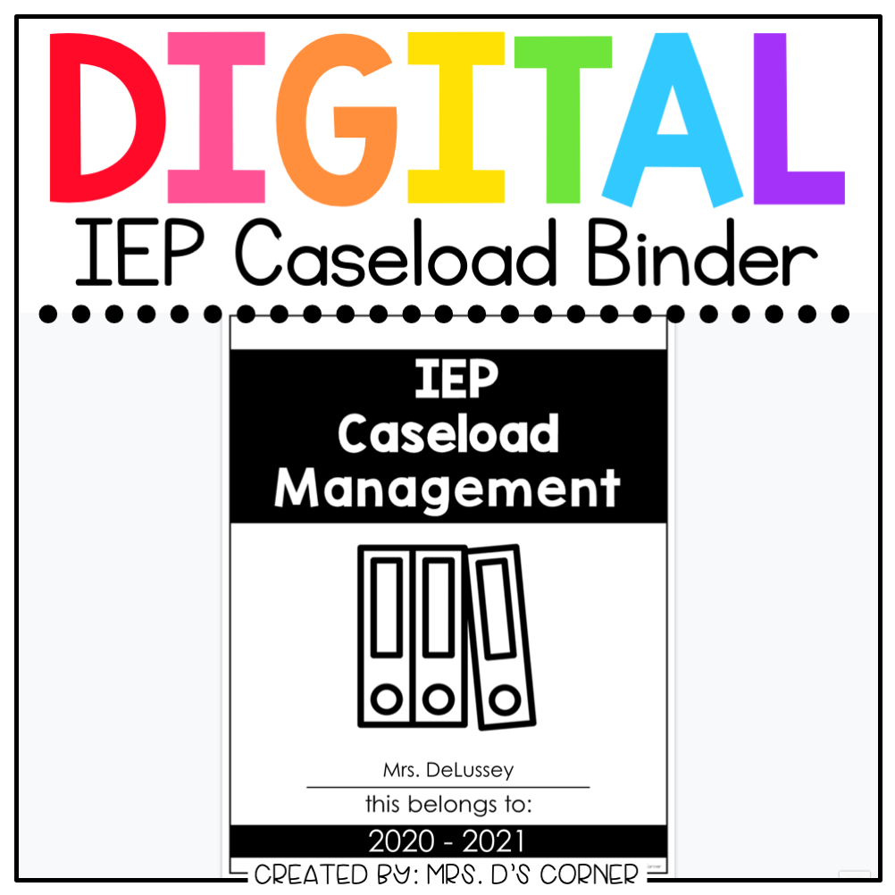 Digital IEP Caseload Binder | Digital Special Education Teacher Binder