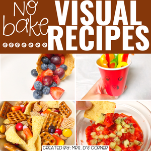 November Visual Recipes with REAL Pictures for Cooking in the Classroom