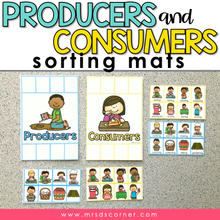 Load image into Gallery viewer, Producers and Consumers Activity Sorting Mats [2 mats included]