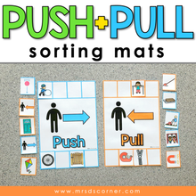 Load image into Gallery viewer, Push and Pull Sorting Mats [2 mats included] | Push and Pull Activity