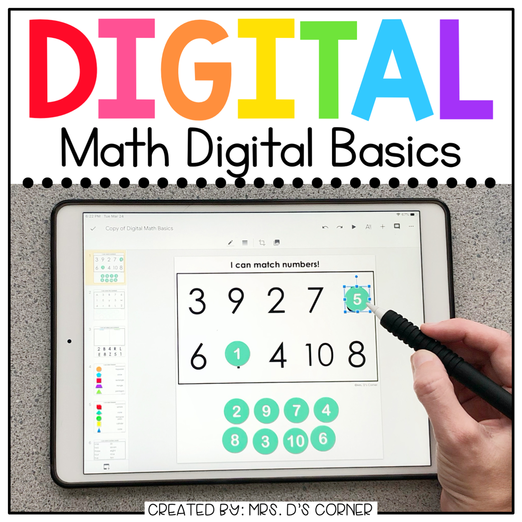 Math Digital Basics for Special Ed | Distance Learning