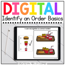 Load image into Gallery viewer, Identify the Correct Order Digital Basics for Special Ed | Distance Learning