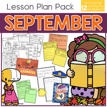 Load image into Gallery viewer, September Lesson Plan Pack | 12 Activities for Math, ELA, + Science