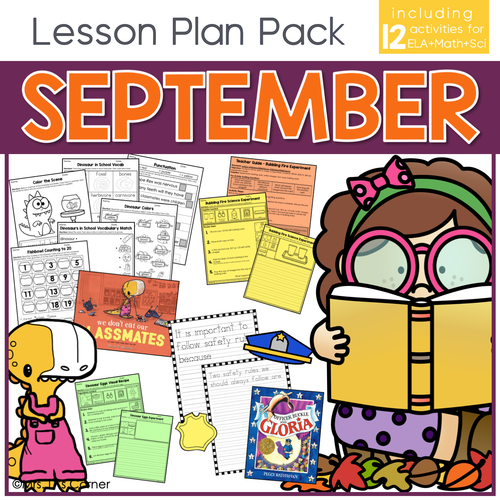 September Lesson Plan Pack | 12 Activities for Math, ELA, + Science