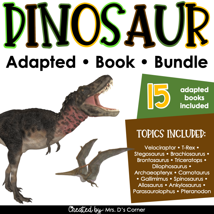 Dinosaur Adapted Book Bundle - 15 Species Included! | Dinosaur Books