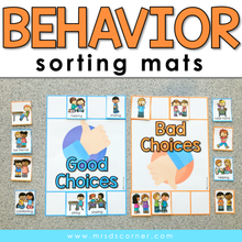 Load image into Gallery viewer, Behavior Sorting Mats [2 mats included] | Good and Bad Behavior Activity
