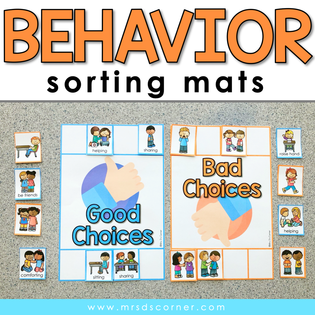Behavior Sorting Mats [2 mats included] | Good and Bad Behavior Activity