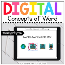 Load image into Gallery viewer, Nursery Rhymes Concepts of Print Digital Activities | Distance Learning