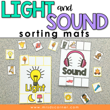 Load image into Gallery viewer, Light and Sound Sorting Mats [2 mats included] | Light and Sound Activity