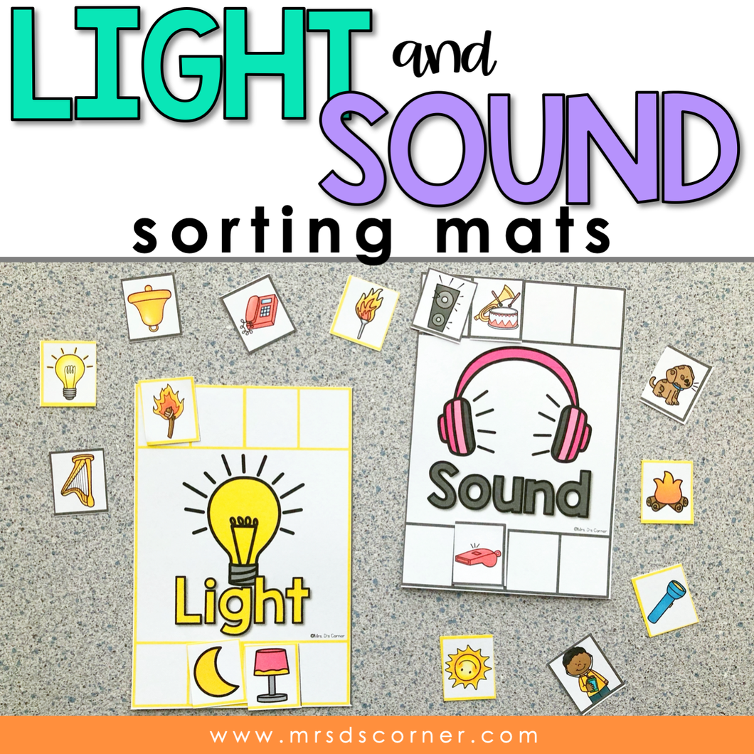 Light and Sound Sorting Mats [2 mats included] | Light and Sound Activity