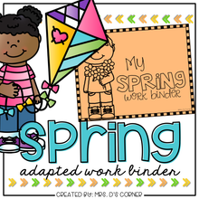 Load image into Gallery viewer, Spring Adapted Work Binder®