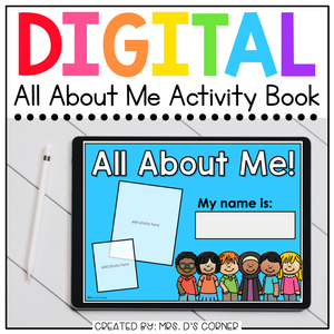 Digital All About Me Activity for Special Ed | Distance Learning