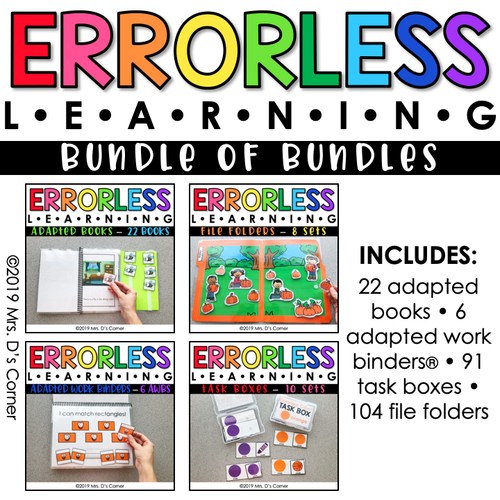 Bundle of Errorless Learning Bundles | Over 200+ Activities Included