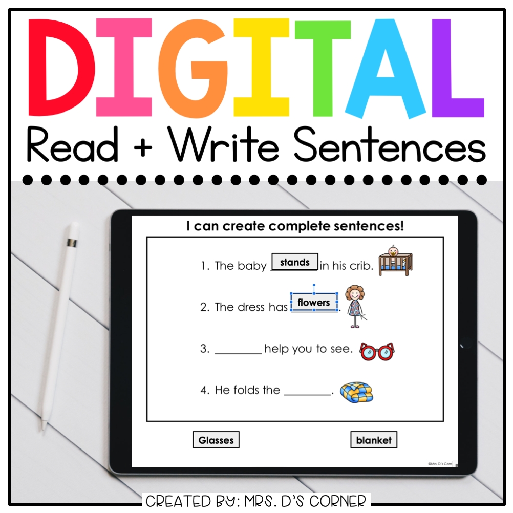 Form a Sentence + Comprehension Digital Basics for Special Ed |Distance Learning