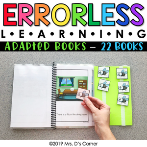 Errorless Learning Adapted Books (22 books included!) | Errorless Adapted Book