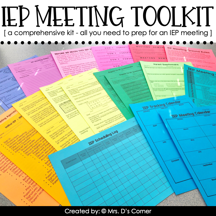 Editable IEP Meeting Toolkit for Special Education Teachers