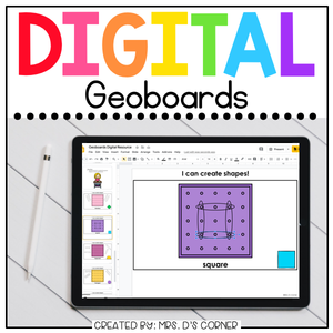 Digital Geoboard | Digital 2D Shapes Activity