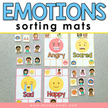 Load image into Gallery viewer, Emotions Sorting Mats [ 10 different emotions ] | Emotions Activity