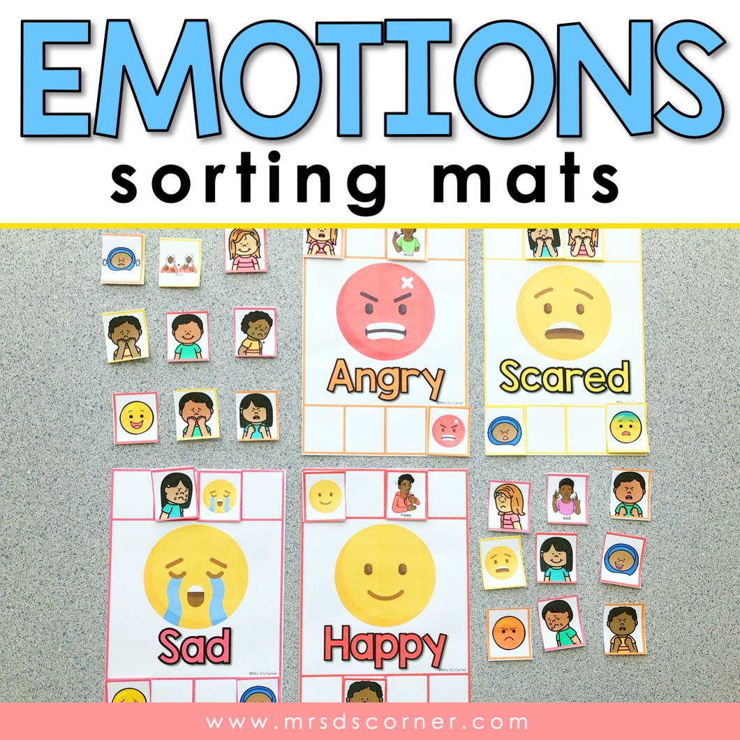 Emotions Sorting Mats [ 10 different emotions ] | Emotions Activity