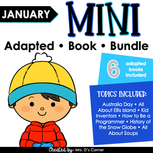 January Mini Adapted Book Bundle [6 books!] Digital + Printable Adapted Books