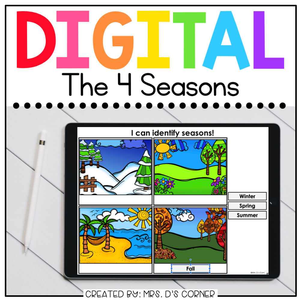 Seasons Digital Basics for Special Ed | Distance Learning