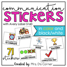 Load image into Gallery viewer, Communication Stickers | Progress Monitoring Stickers [from Teachers to Parents"|220|220|?|9dc06dcbd4d88d80c5a1c7becf062b4f|False|UNLIKELY|0.34862032532691956