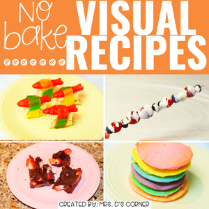 June Visual Recipes with REAL Pictures for Cooking in the Classroom