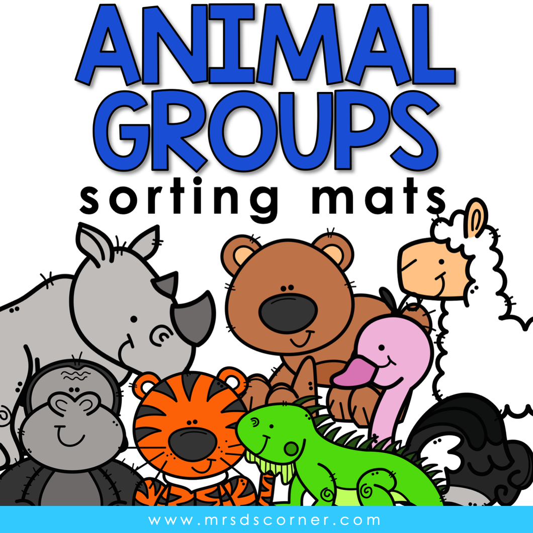Animal Groups Sorting Mats [8 mats!] for Students with Special Needs