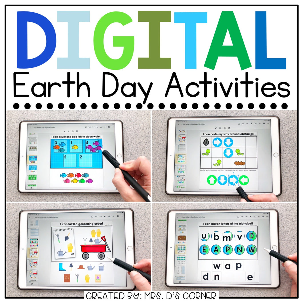 Earth Day Digital Activities for Special Ed | Earth Day Distance Learning