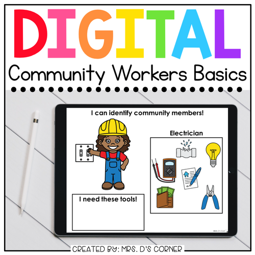 Community Helpers Digital Basics for Special Ed | Distance Learning