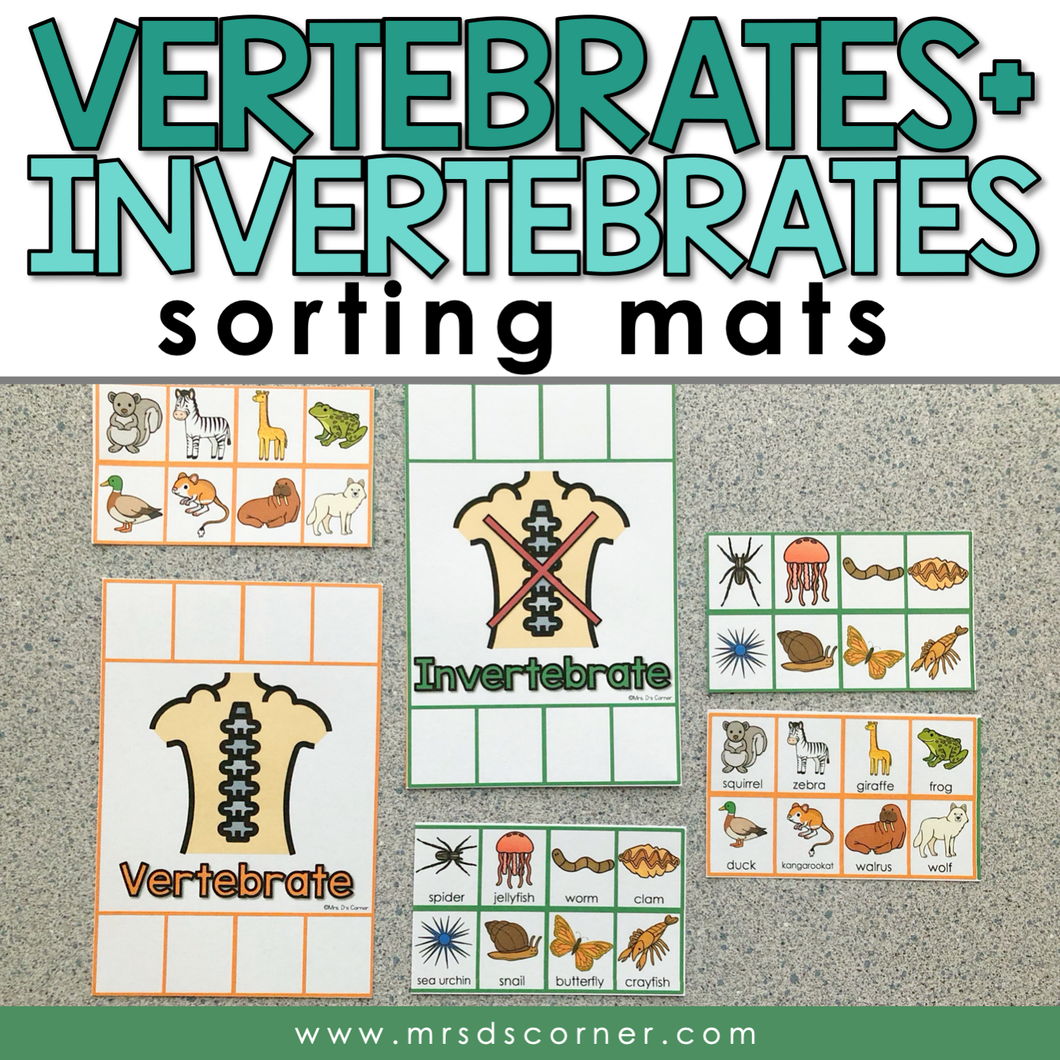 Vertebrates and Invertebrates Activity Sorting Mats [2 mats included]