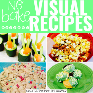 March Visual Recipes with REAL Pictures for Cooking in the Classroom