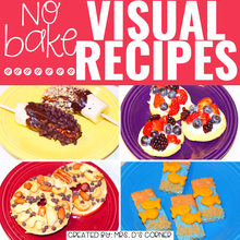 Load image into Gallery viewer, July Visual Recipes with REAL Pictures for Cooking in the Classroom
