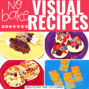 July Visual Recipes with REAL Pictures for Cooking in the Classroom