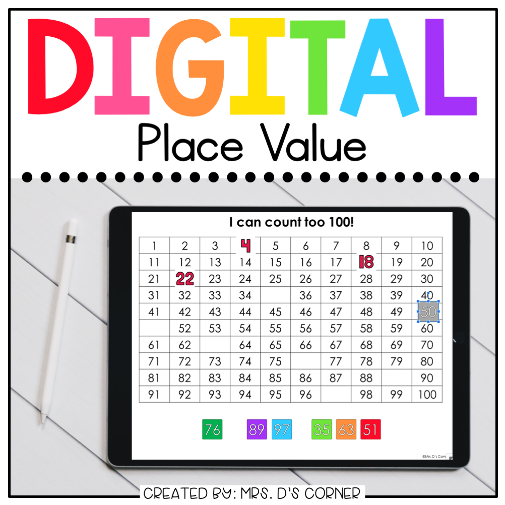Place Value Digital Basics for Special Ed | Distance Learning