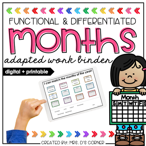 Months of the Year Adapted Work Binder® | Distance Learning
