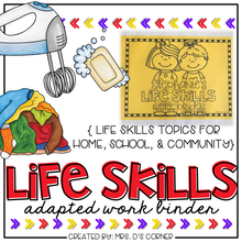 Load image into Gallery viewer, Life Skills Adapted Work Binder® {Skills for Home, School, and Community}