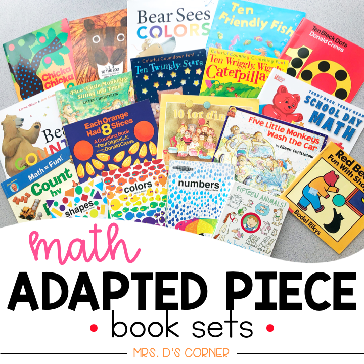 Math Adapted Piece Book Set [20 book set!] | Math Adapted Books