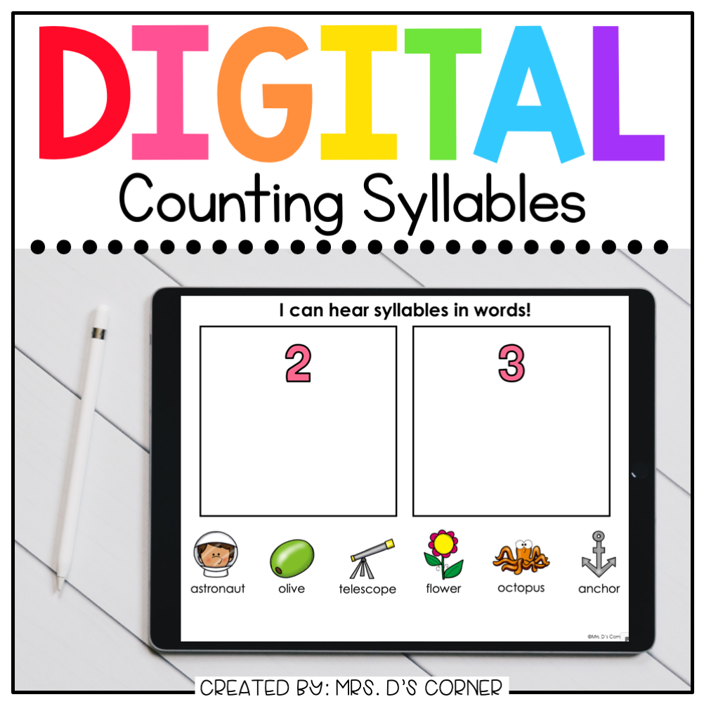 Syllables Digital Basics for Special Ed | Distance Learning