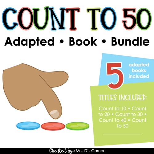 Counting to 50 Adapted Book Bundle [Level 1 and 2] Basic Counting Books